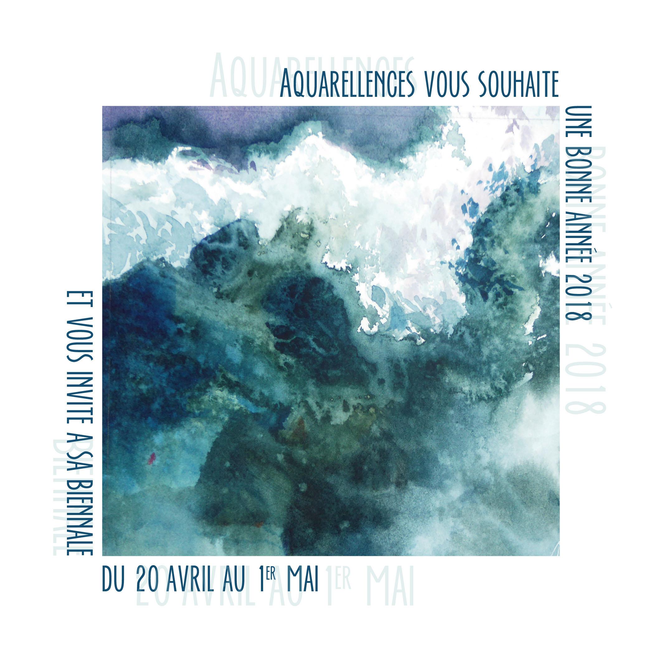 Voeux2018 Aquarellences